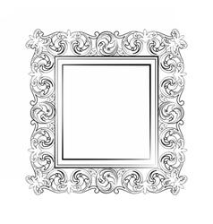 Elegant baroque royal frame vector