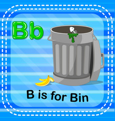 Flashcard letter b is for bin vector