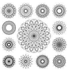 Guilloche Set vector image
