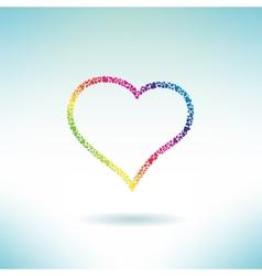 Heart contour made of hearts Love concept icon vector image