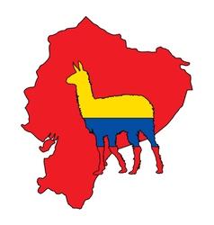 Lama Ecuador vector image