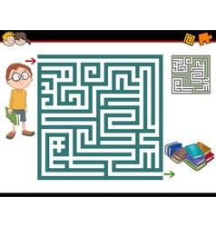 maze activity vector image