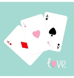 Poker playing card combination with ace of spade vector image