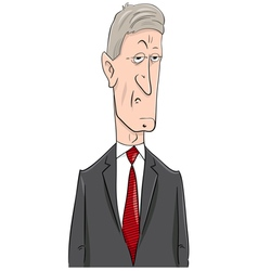 Politician cartoon character vector