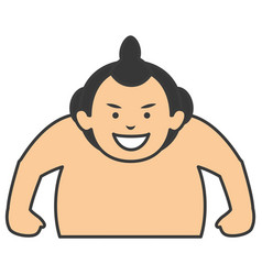 Sumo wrestler avatar character vector