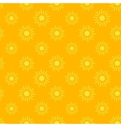 Sun icons seamless pattern vector image
