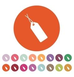 The price tag icon sale symbol flat vector