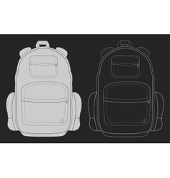 Travel backpack chalk vector