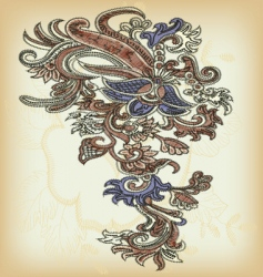 vintage ornamental design vector image