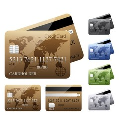 Credit cards vector