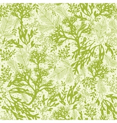 Green underwater seaweed seamless pattern vector