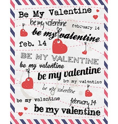 Valentines day vintage template background vector