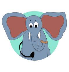 elephant icon avatar vector image