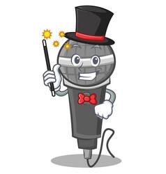 Magician microphone cartoon character design vector