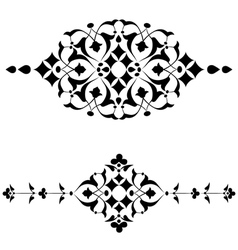 Ottoman motifs black design series of fifty four vector