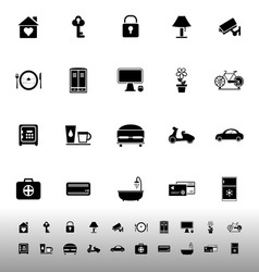 General home stay icons on white background vector