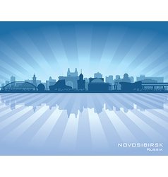 Novosibirsk russia skyline city silhouette vector