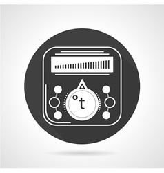 Thermoregulator black round icon vector