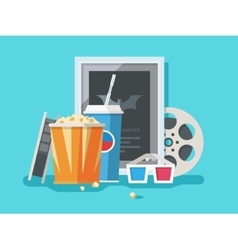 Cinema accessories vector