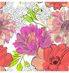 Decorative floral seamless wallpaper vector