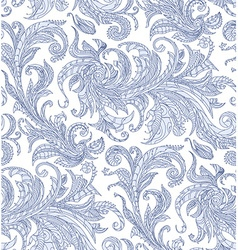 Handmade unusual seamless pattern exotic floral vector