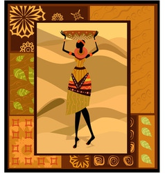 african woman ornament vector image vector image