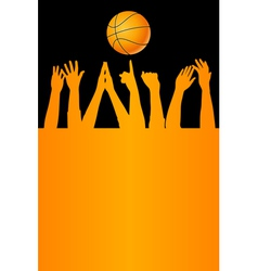 Basketball card vector