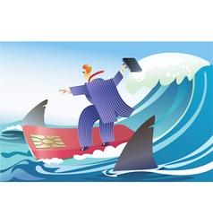 Card surfer vector