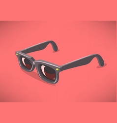 Classic model sunglasses on a solid background vector