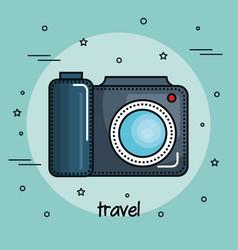 Colorful camera design vector