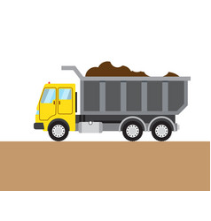 Colorful tip-truck image vector