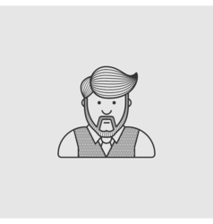 contour icon the man with a beard and a stylish vector image vector image