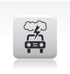 danger car icon vector image