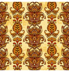 egypt colorful floral ornament vector image