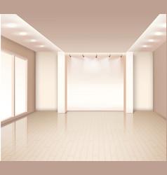 Empty modern room interior vector