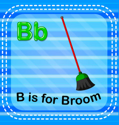 Flashcard letter b is for broom vector