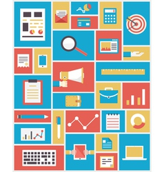 Flat modern technology and equipment in business vector