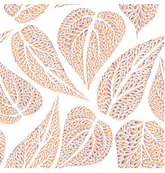 floral pattern with leaves nature seamless vector image