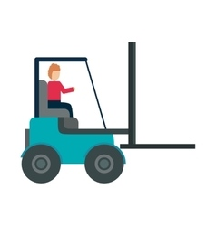 forklift vehicle delivery transport vector image vector image