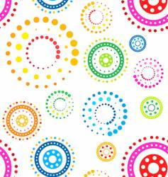Funky circles pattern vector