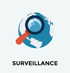 Globe Search Icon vector image