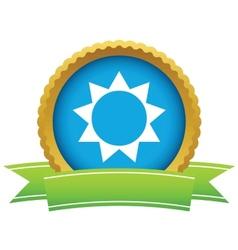 Gold sun logo vector