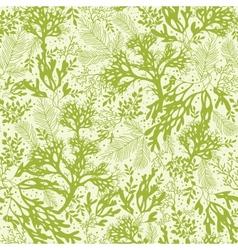 Green underwater seaweed seamless pattern vector