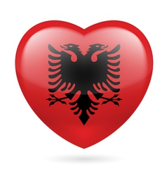 Heart icon of albania vector