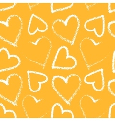 Heart seamless pattern vector