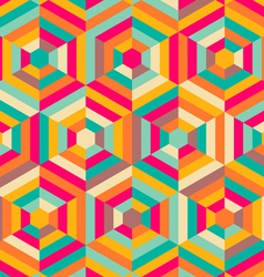 hexagon mosaic pattern vector image vector image