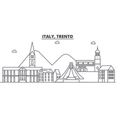 italy trento architecture line skyline vector image