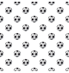Leather soccer ball pattern vector