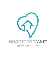 Love home business logo design vector