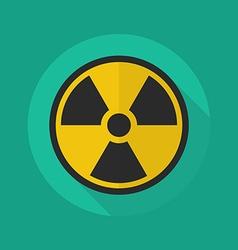 Medical flat icon radiation symbol vector